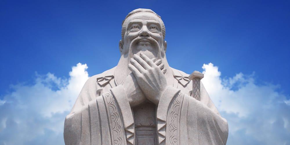 Statue von Konfuzius
